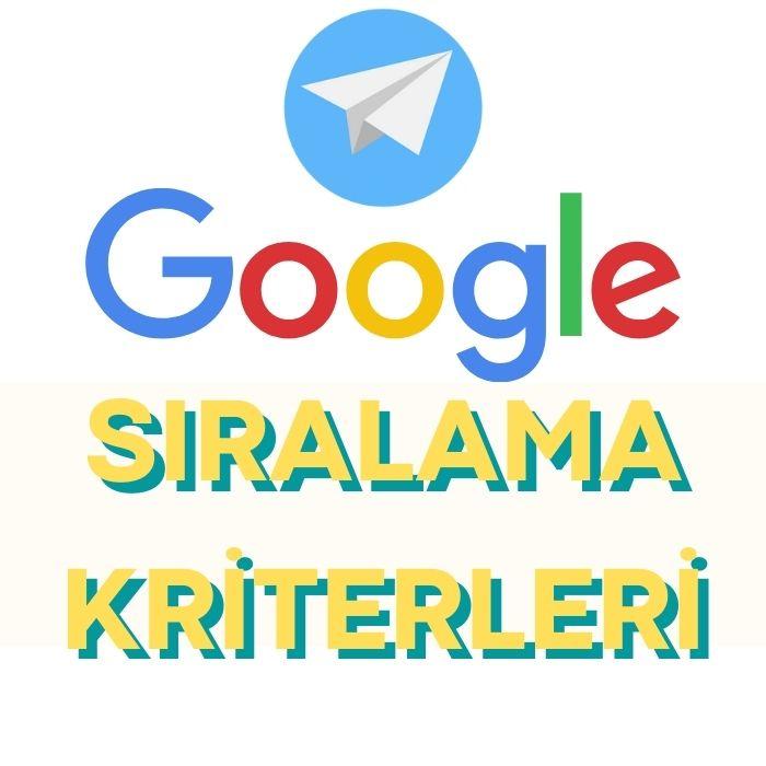 google-siralama-kriterleri